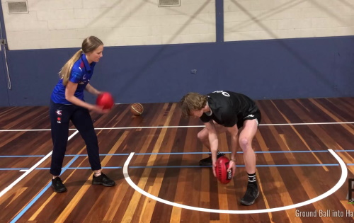 Handball – Clean Hands: Ground Ball into Handball