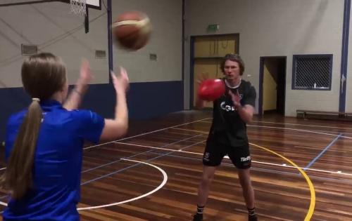 Handball – Clean Hands: Basketball Variation
